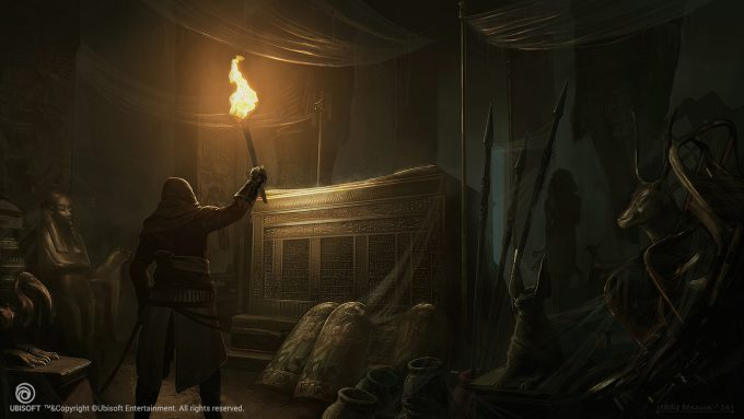 Assassins Creed Origins Concept Art Eddie Bennun ace env smenkaure tomb 1 lr