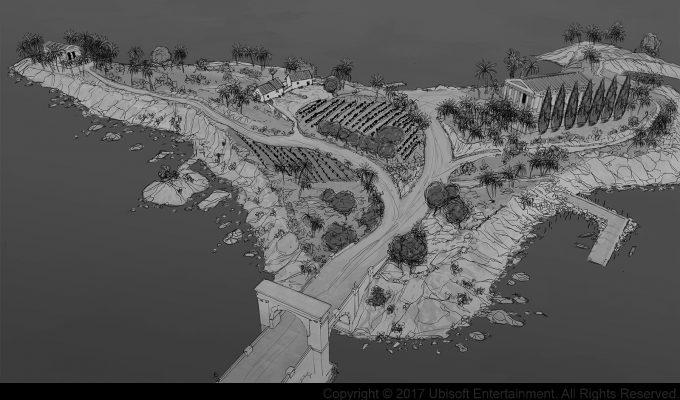 Assassins Creed Origins Concept Art Gilles Beloeil alexandrie ile antirrhodos