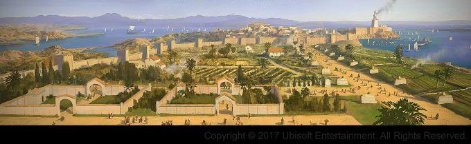Assassins Creed Origins Concept Art Gilles Beloeil alexandrie vers hippodrome