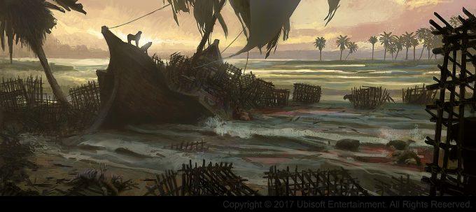 Assassins Creed Origins Concept Art Gilles Beloeil ev epave bateau
