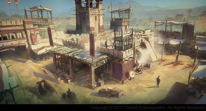 Assassins Creed Origins Concept Art Gilles Beloeil fort 01