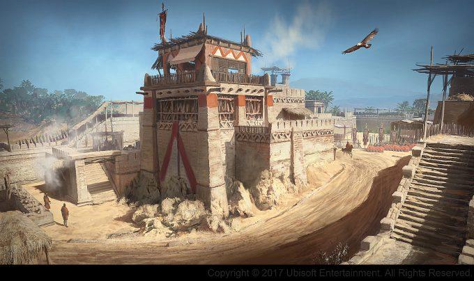 Assassins Creed Origins Concept Art Gilles Beloeil fort 02