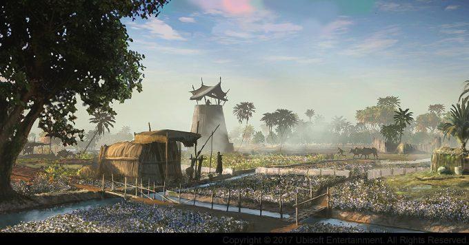 Assassins Creed Origins Concept Art Gilles Beloeil plantations crowd life