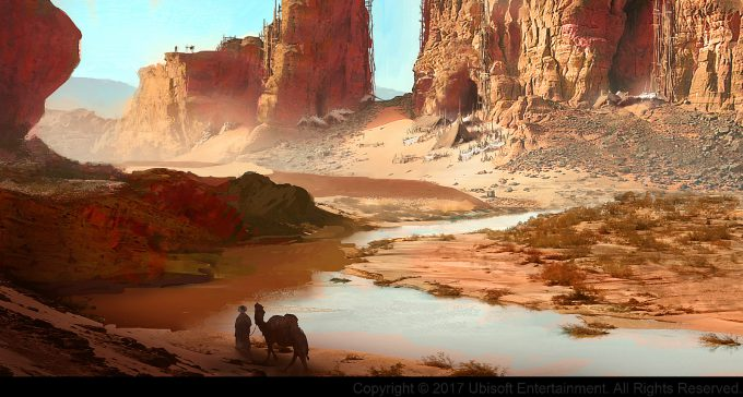 Assassins Creed Origins Concept Art Gilles Beloeil rebels hide out