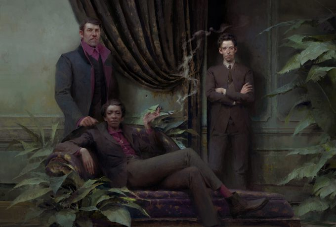 Dishonored Death of the Outsider concept art piotr jablonski portrait of the eyeless leaders s