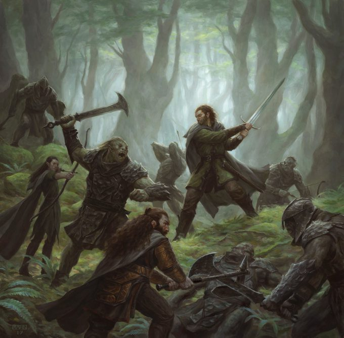 Lord of the Rings Journeys in Middle Earth FFG Illustration Art Chris Rahn