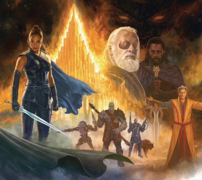 Thor Ragnarok Gladiator Thor Concept Art Andy Park Art Book Cover Back