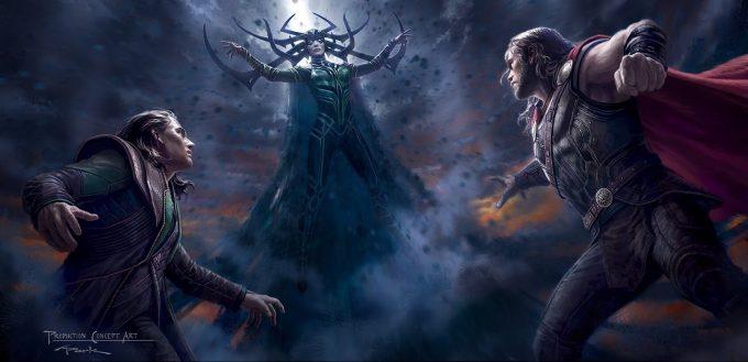 Thor Ragnarok Gladiator Thor Concept Art Andy Park ComicCon Hela