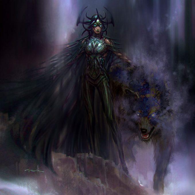 Thor Ragnarok Gladiator Thor Concept Art Andy Park Hela Fenris