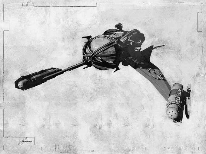 Thor Ragnarok Gladiator Thor Concept Art Sean Hargreaves Falcon Spaceship 01