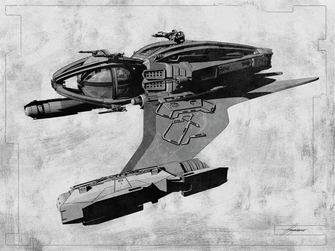 Thor Ragnarok Gladiator Thor Concept Art Sean Hargreaves Falcon Spaceship 02