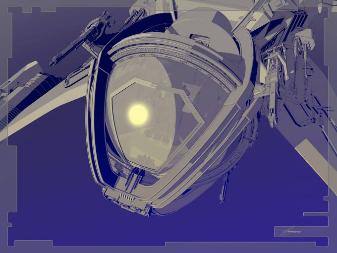 Thor Ragnarok Gladiator Thor Concept Art Sean Hargreaves Falcon Spaceship 03