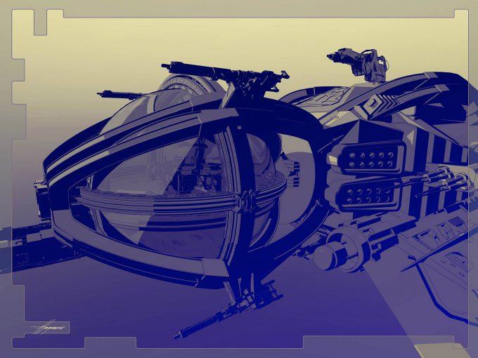 Thor Ragnarok Gladiator Thor Concept Art Sean Hargreaves Falcon Spaceship 04