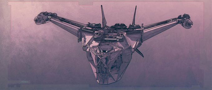 Thor Ragnarok Gladiator Thor Concept Art Sean Hargreaves Kingswood Spaceship 01