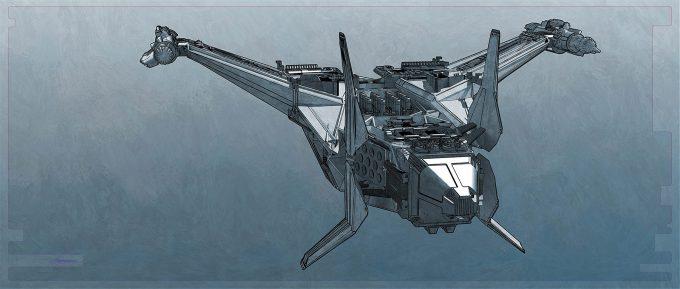 Thor Ragnarok Gladiator Thor Concept Art Sean Hargreaves Kingswood Spaceship 02