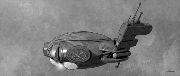 Thor Ragnarok Gladiator Thor Concept Art Sean Hargreaves Kirby Spaceship 01