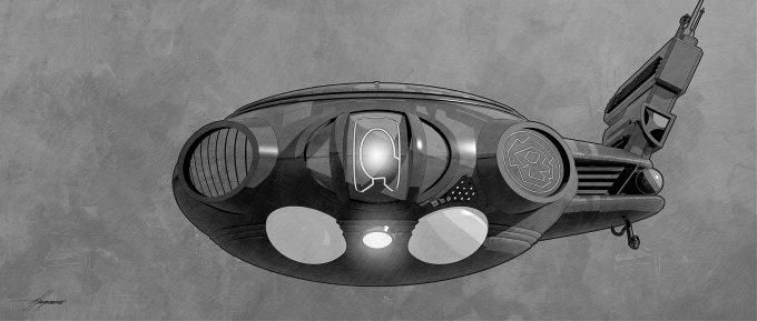 Thor Ragnarok Gladiator Thor Concept Art Sean Hargreaves Kirby Spaceship 02