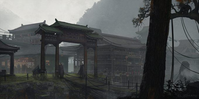 Ahmed El Johani Concept Art Illustration chinese town