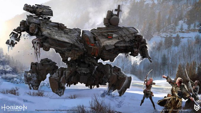 Horizon Zero Dawn Concept Art Deathbringer 0 Miguel Angel Martinez