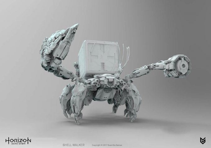 Horizon Zero Dawn Concept Art Shell Walker 7 Miguel Angel Martinez