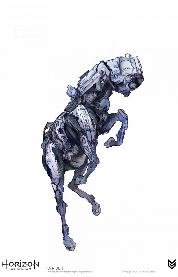 Horizon Zero Dawn Concept Art Strider robot Miguel Angel Martinez