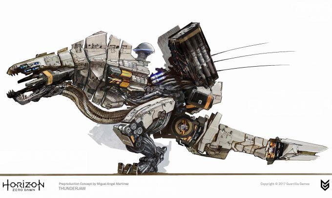 Horizon Zero Dawn Concept Art Thunderjaw 1 Miguel Angel Martinez
