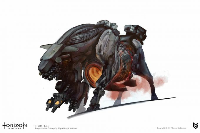 Horizon Zero Dawn Concept Art Trampler 2 Miguel Angel Martinez