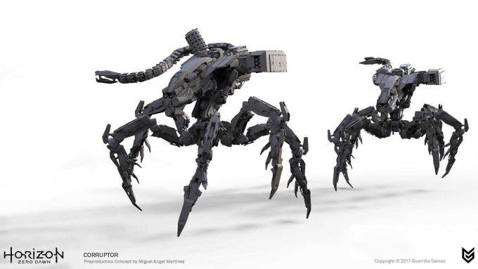 Horizon Zero Dawn Concept Art corruptor 1 robot Miguel Angel Martinez