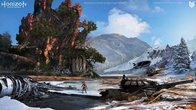 Horizon Zero Dawn Concept Art ruins 1 Miguel Angel Martinez