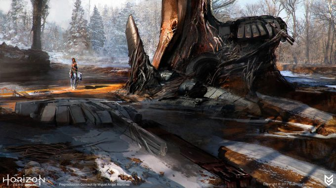 Horizon Zero Dawn Concept Art ruins 3 Miguel Angel Martinez