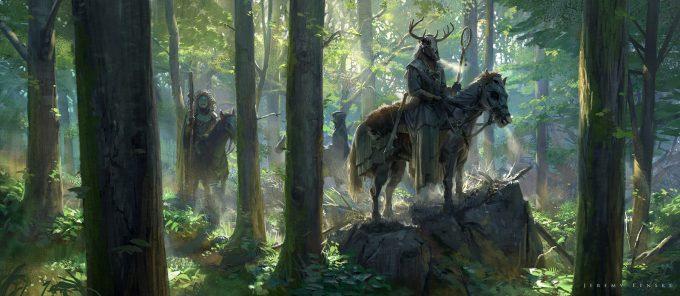 Jeremy Fenske art illustration Kight In The Woods