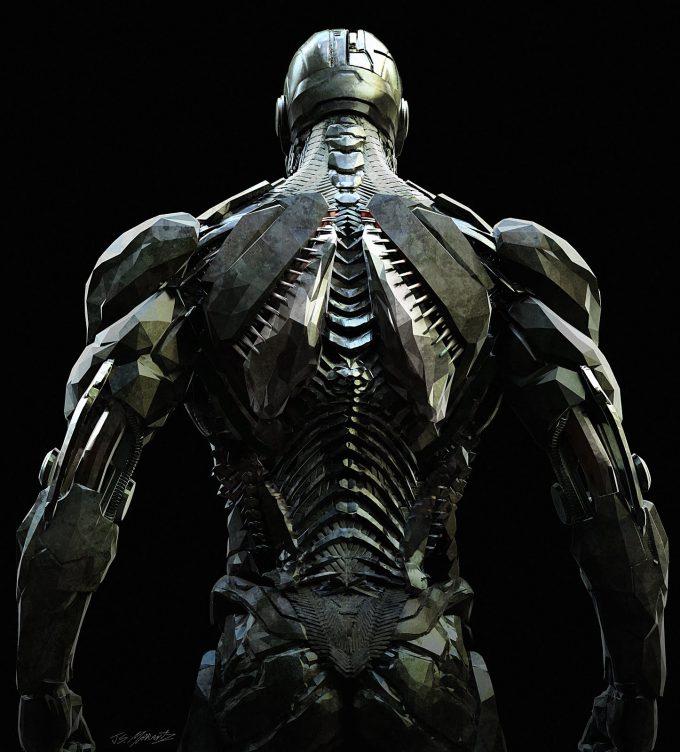 Justice League Concept Art Jerad Marantz Cyborg Back CU pass 5