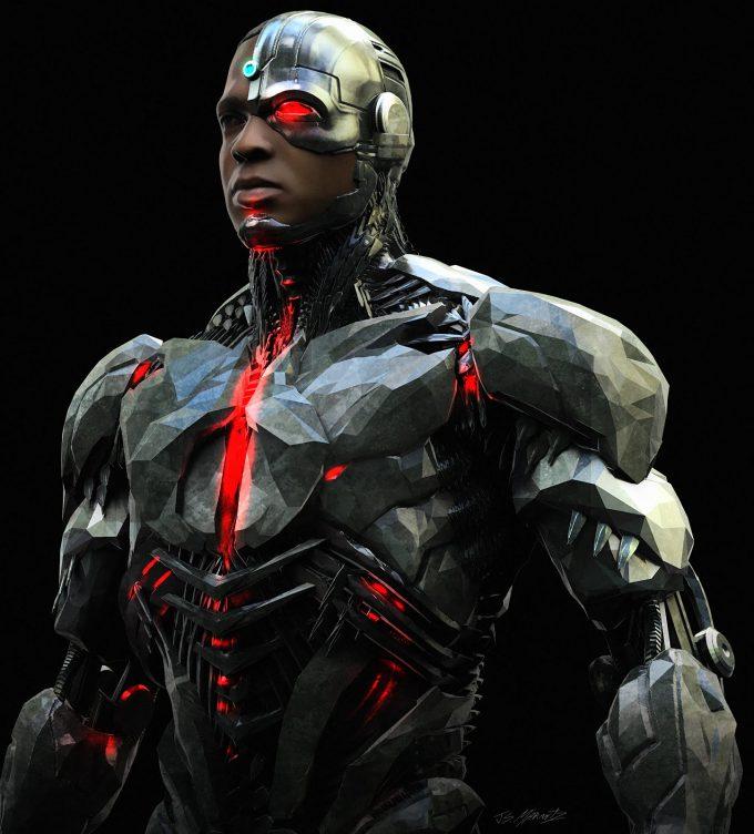 Justice League Concept Art Jerad Marantz Cyborg CU pass 5
