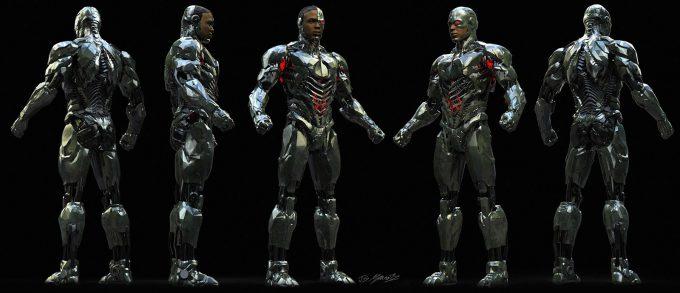 Justice League Concept Art Jerad Marantz Cyborg Ortho full 2