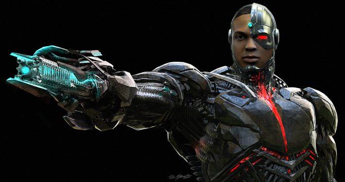 Justice League Concept Art Jerad Marantz Cyborg gun hand 01
