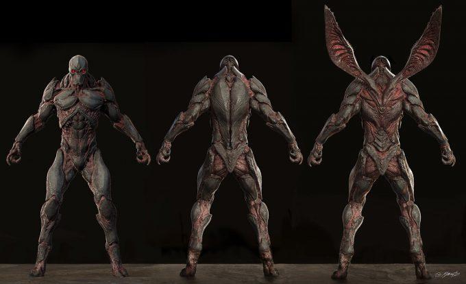 Justice League Concept Art Jerad Marantz Parademon Spread Wip 01