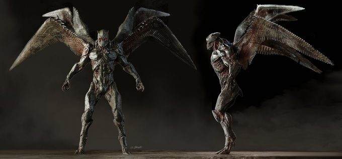 Justice League Concept Art Jerad Marantz Parademon Spread Wip 02