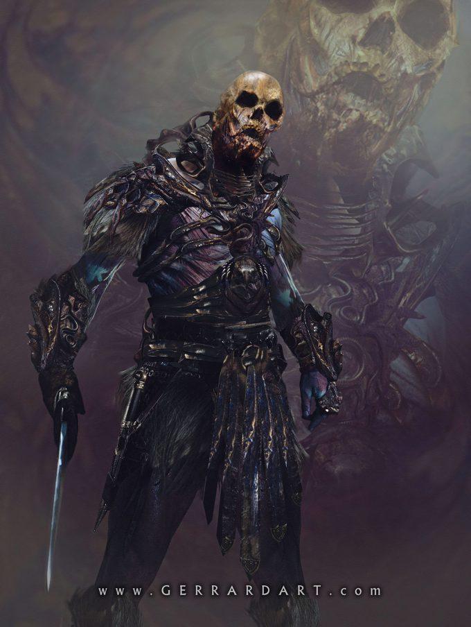 Masters of the Universe Art Paul Gerrard Skeletor 01