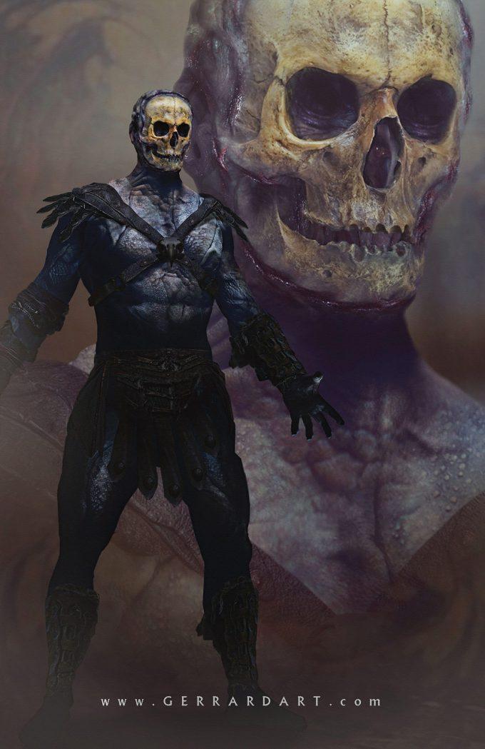 Masters of the Universe Art Paul Gerrard Skeletor classic 01