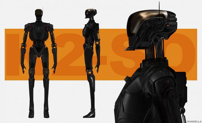 Star Wars Rogue One Concept Art Ivan Manzella 03 K 2SO 01