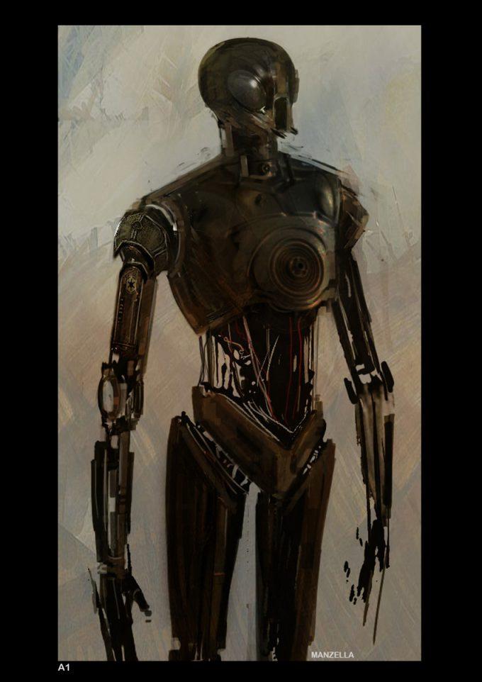 Star Wars Rogue One Concept Art Ivan Manzella 03 K 2SO 02