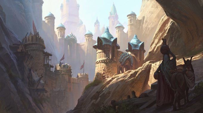 gabriel yeganyan concept art entrance to canyon city demo