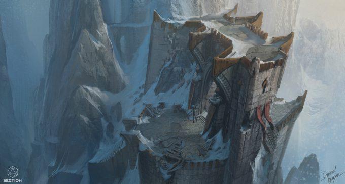 gabriel yeganyan concept art mountainside gate public
