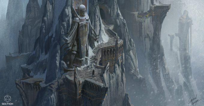 gabriel yeganyan concept art mountainside public