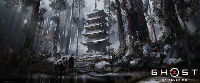 ghost of tsushima game concept art ian jun wei chiew 001