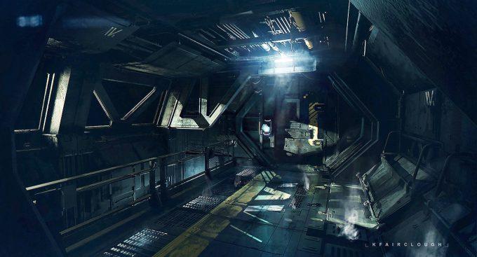 ken fairclough concept art sitec main corridor u