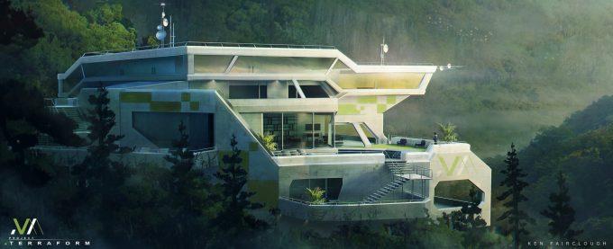 ken fairclough concept art terraform green yellow