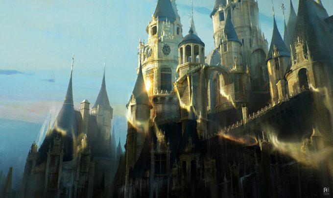 Beauty and the Beast Concept Art Disney Jama Jurabaev bandb fs castle transformation v001