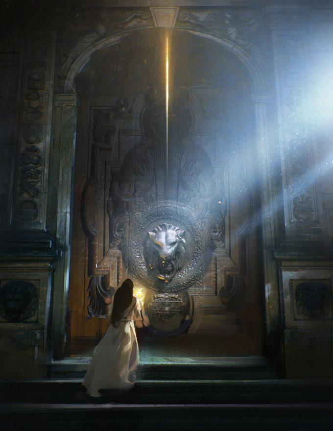Beauty and the Beast Concept Art Disney Jama Jurabaev bandb fs door knocker v001