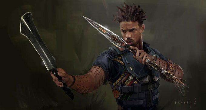Black Panther Concept Art Rodney Fuentebella Erik Killmonger 02